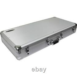 Odyssey K10PT01BLK Silver DJ Coffin for Two Numark PT01 and 10 DJ Mixer