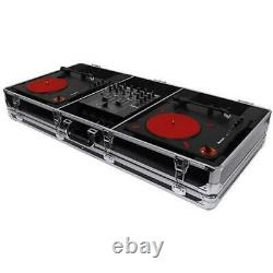 Odyssey Krom DJ Coffin for Two Numark PT01 Scratch Turntables and A Compact 10