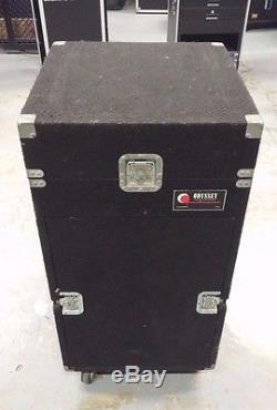 Odyssey Slant Top Mixer Console Rack Road Case 11U Over 14U
