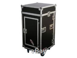 Odyssey Top Load Rack PA DJ Case with Laptop Mount & Table 10/16 Spaces New