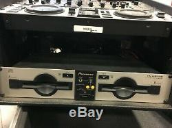 Pioneer CMX-5000 CDJ and MTX sound craftsmen mixer with rack and road case