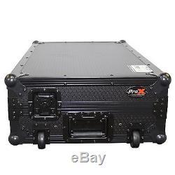 Pioneer DDJ-SX2 DDJ-RX Road gig ready flight case Club DJ Mobile Wheels ATA