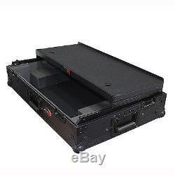 PioneerDDJ-RX DDJ-SX2 Digital Controller Flight Case w Laptop Shelf & Wheels
