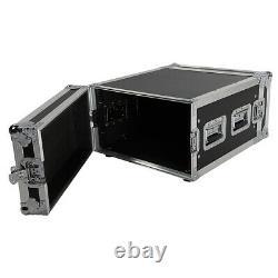 Pro 6U 19 Space Rack Storage Case Single Layer Double Door DJ Equipment Cabinet