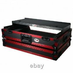Pro X Flight Case for Pioneer DDJ-1000SRT/ SX3 with1U Rack, Shelf & LED KIT-LE Red