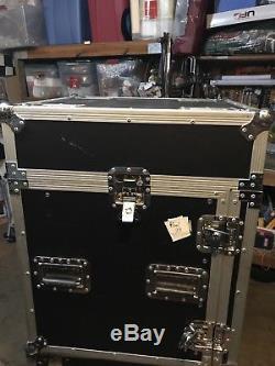 Pro X T-12MRSS 12U x 10U Slant Combo DJ /Mixer Rack Case with Laptopstand&Powercon