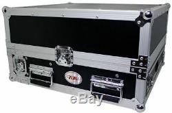 Pro X T-2MR LT 2U x 10U Space Slant Combo DJ Rack Case+FREE Sliding Laptop Shelf