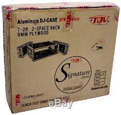 Pro X T-2RSS Signature Series 2U Space Portable DJ Amp Amplifier Rack ATA Case