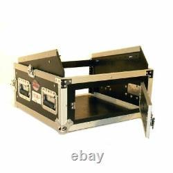 Pro X T-4MR 4U x 10U Space Slant DJ Combo ATA Rack Case + Sliding Laptop Shelf
