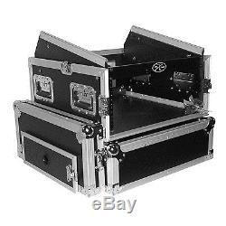 Pro-X T-4MRSS 4 x 10 Space 19 Mixer DJ Combo Amp Rack Flight Case