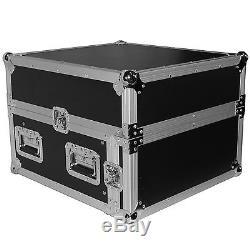 Pro X T-4MRSS ATA Rack 4U (bottom)+10U (top) Slant Combo DJ Flight Case