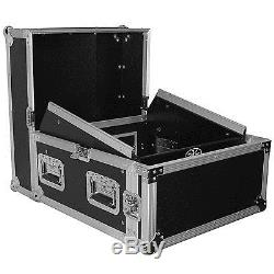 Pro X T-4MRSS Signature Series 4U+10U Space Slant Combo DJ ATA Rack Flight Case