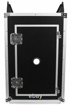 Pro X TOV T-18MRSS 18Ux10U Slant Rack Pro DJ ATA300 Flight Case with Wheels 3/8