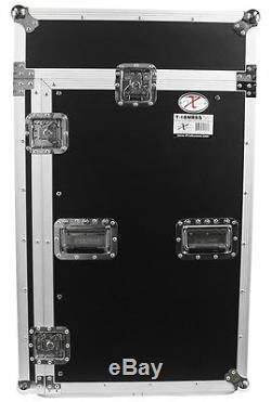 Pro X TOV T-18MRSS 18Ux10U Slant Rack Pro DJ ATA300 Flight Case with Wheels 3/8