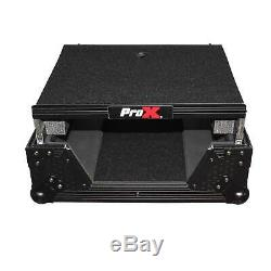Pro-X XS-M12LTBL Black FInish 12 Universal Mixer Case With Laptop Glide Shelf