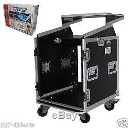 ProX 12 Space 12U 10U Mixer DJ Combo Rack Laptop Flight Case T-12MRLT & LED Kit