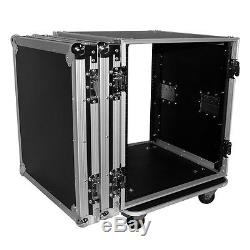 ProX 12U Space Amp Rack Mount ATA Flight Case, 19 Depth with Casters T-12RSS