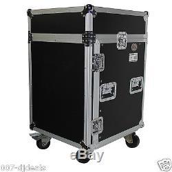 ProX 14 Space 14U 10U Mixer DJ Combo Rack Mount Flight Hard Case T-14MRLT Laptop