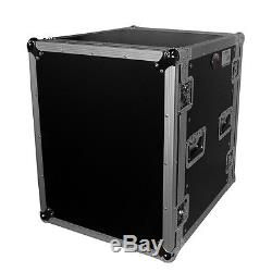 ProX 14-Space Amp Rack 14U Flight Road Case 19 with Casters T-14RSS