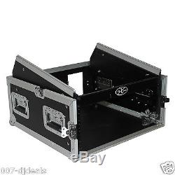 ProX 4 Space Amp 10 Slanted Top 4U 10U Mixer DJ Combo Rack Flight Case T-4MRSS