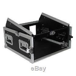 ProX 4U Rack Flight Case 10U slant mixer rack system
