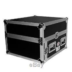 ProX 4U Rack x 10U Top Mixer DJ Combo Flight Case Laptop Shelf