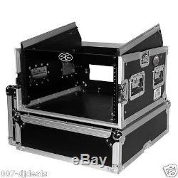 ProX 6 Space Amp 10 Slanted Top 6U 10U Mixer DJ Combo Rack Flight Case T-6MRSS