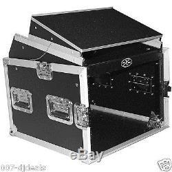 ProX 8 Space 10 Slanted 8U 10U Mixer DJ PA Combo Rack Laptop Flight Case T-8MRLT