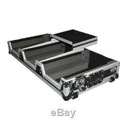 ProX DJ Coffin Case for 4 Channel Mixer & 2x CDJ withWheels + Laptop Shelf