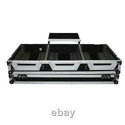 ProX DJ Coffin Case for 4 Channel Mixer and 2x CDJ with Red TSA Lock