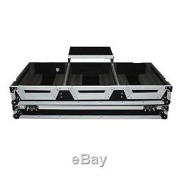 ProX DJ Coffin Case for 4 Channel Mixer and 2x CDJ withWheels & Laptop Shelf