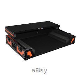 ProX Fitted Case for Pioneer DDJ-SZ DDJ-SZ2 DDJ-RZ Orange Black with Laptop Glide