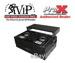 ProX Pioneer DDJ-SX Rolling DJ Flight Case With Glide Shelf + Wheels All Black SX2
