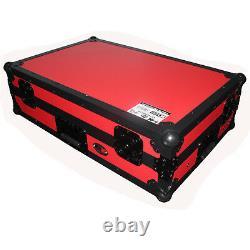 ProX Red Road Case For Pioneer DDJ-SX3 DDJ-SX2 DDJ-RX Denon MC7000 Controller