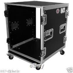ProX T-12RSS 12 Space AMP Rack ATA Flight Pro DJ Audio Flight Case 19 Mount