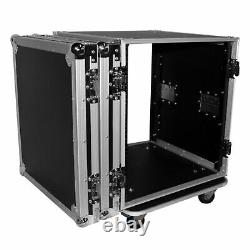 ProX T-12RSS 12U Space Amp Rack Mount ATA Flight Case 19 Inch Depth WithCasters