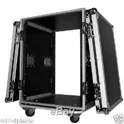 ProX T-14RSS 14 Space AMP Rack ATA Flight Pro DJ Audio Flight Case 19 Mount
