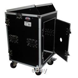 ProX T-16MRSS 16U x 10U Mixer Combo Amplifier Rack