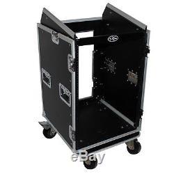 ProX T-16MRSS mixer combo amp rack case 16U Vertical front load 10U top Slant
