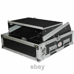 ProX T-2MRLT 2U Rack x 10U Top Mixer DJ Combo Flight Case w Laptop Shelf