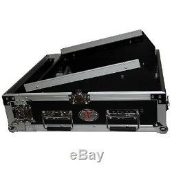 ProX T-2MRSS 2U Rack x 10U Top Mixer DJ Combo Rack Flight Travel Case