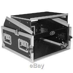 ProX T-4MRLT 4U Vertical front load Mixer Amp Rack case Top Slant w Laptop Shelf