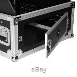 ProX T-6MRLT 6U Rack x 10U Top Mixer DJ Combo Flight Case w Sliding Laptop Shelf