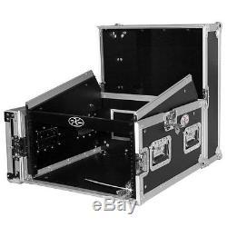 ProX T-6MRSS 6U Vertical front load Mixer combo amp Rack case 10U Top Slant