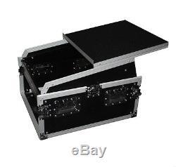 ProX T-6MRSS13ULT 6U Rack x 13U Top Mixer DJ Combo Flight Case with Laptop Shelf