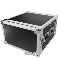 ProX T-6RSP 6U Space Shockproof Amp Rack ATA Flight Case 20 In Depth WithHandles