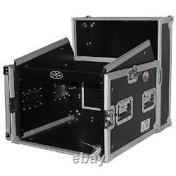 ProX T-8MRLT 8U Rack x 10U Top Mixer DJ Combo Flight Case withSliding Laptop Shelf