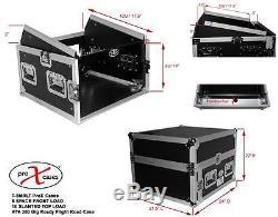 ProX T-8MRSS 8U Rack x 10U Top Mixer DJ Combo Flight Case