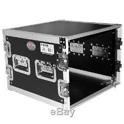 ProX T-8RSS 8U (8-Space) Amplifier / Gear Rack ATA Flight / Road Case 19 Depth