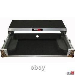 ProX X-MXTPRO3LT Travel Flight Case For Mixtrack Pro 3 with Laptop Shelf